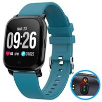 Waterbestendig Bluetooth Smartwatch met Ir Thermometer Cv06 - Blauw