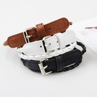 newchic Bohemian Double Layer Leather Bracelet For Women With Button Fashion Bracelet