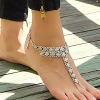 newchic Bohemian Metal Flower Beach Barefoot Sandals Anklet