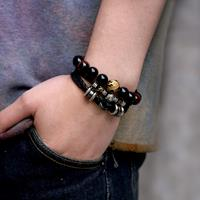 newchic Vintage 12 Constellation Bracelet Woven Leather Bracelet Multilayer Stainless Steel Bracelet