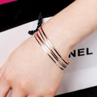 newchic Fashion Bangle Bracelet Single Frosted Gold Silver Cuff Bracelet Casual Jewelry Accessory for Women