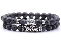 Lucifer's Luxury unisex armbandenset Black Buddha
