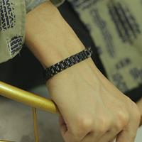 newchic Men Titanium Steel Bracelet Removable Cool Bicycle Motorcycle Chain Bracelet Jewelry