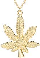Unknown Wiet Ketting - Marihuana - Hennep - Hasj - Cannabis - Goudkleurig