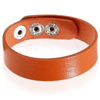 lgtjwls Leren armband LGT Jewels Verstelbaar Oranje