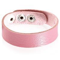 lgtjwls Leren armband LGT Jewels Verstelbaar Roze