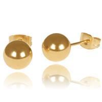 lgtjwls LGT Jewels Stud oorbellen Bol Goud 4mm