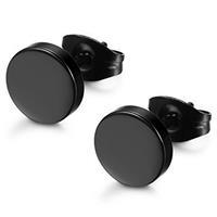 lgtjwls LGT Jewels Ronde oorknoppen Edelstaal Zwart-4mm