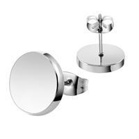 lgtjwls LGT Jewels Ronde oorknoppen Edelstaal Zilverkleurig-4mm
