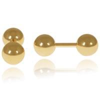 lgtjwls LGT Jewels Stud oorbellen Dubbele Bol Goud 6mm