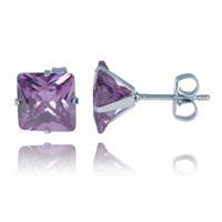 lgtjwls LGT Jewels Stud oorbellen Edelstaal Classic Purple 6mm