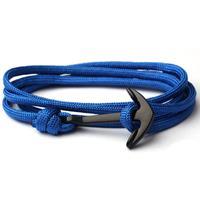 lgtjwls Anker armband Blauw polyester koord