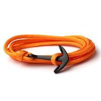 lgtjwls Anker armband Neon Oranje polyester koord