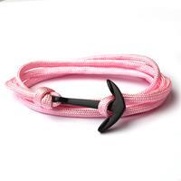 lgtjwls Anker armband Roze polyester koord