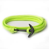lgtjwls Anker armband Neon Groen polyester koord