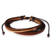 lgtjwls LGT Jewels armband Verstelbaar Touw Leer Bruin