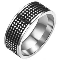 lgtjwls Stalen mannen ring Grid 8mm-21mm