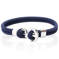 lgtjwls LGT Jewels Anker armband heren Touw Navy