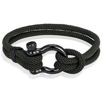lgtjwls Nautische heren armband Paracord Edelstaal Anker Army-19cm