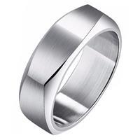 mendes Zilverkleurige  heren ring gepolijst Staal-17mm