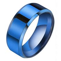 lgtjwls Heren ring Titanium Blauw 8mm-19mm