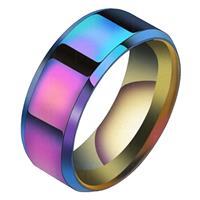 lgtjwls Heren ring Titanium Multicolor 8mm-17mm