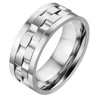 mendes Jewelry heren ring Edelstaal Tandwiel-18mm