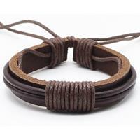 lgtjwls Leren armband LGT Jewels Verstelbaar Touw Bruin