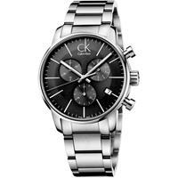Calvin Klein City Chronograph Horloge K2G27143 - Zilver