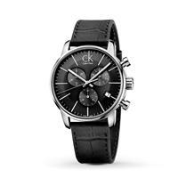Calvin Klein City Watch K2G271C3 - Zwart