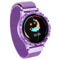 Waterbestendig Bluetooth Smartwatch voor Dames D18 - Paars