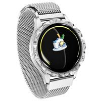 Waterbestendig Bluetooth Smartwatch voor Dames D18 - Zilver