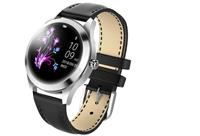 Luxe smartwatch voor vrouwen Zilverkleurig - zwart