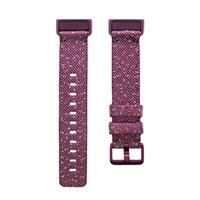 Fitbit Charge 4 geweven bandje Small (Paars)