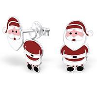Little Tiara Kerstman Ear Jackets Oorbellen van Zilver