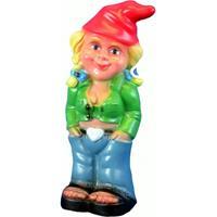 Tuinkabouter blonde vrouw 33 cm