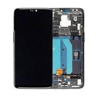 OnePlus 6 Voorzijde Cover & LCD Display - Spiegelzwart