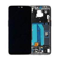 OnePlus 6 Voorzijde Cover & LCD Display - Midnight Zwart