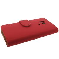 Bookstyle Hoesje Huawei Honor 3 Mat Rood