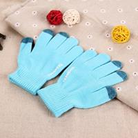 HAWEEL Three Fingers Touch Screen Gloves for Kids(Blue)