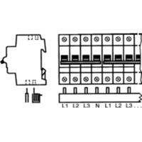 ABB PS 4/12 - Phase busbar 4-p 10mm² 211,2mm PS 4/12