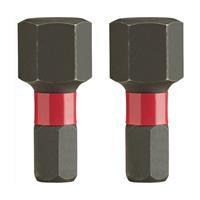 Milwaukee 4932430898 Shockwave impact duty schroefbit HEX8 - 25 mm (2st)