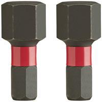 Milwaukee 4932430899 Shockwave impact duty schroefbit HEX10 - 25 mm (2st)