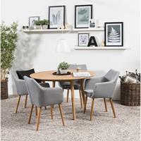Leen Bakker Eethoek Ulfborg Uppsala (tafel met 4 stoelen) - bruin/grijs