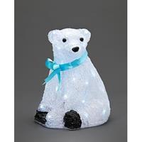Zittende LED-ijsbeer acryl