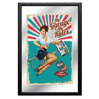 Fiftiesstore My Garage My Rules Spiegel