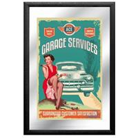 Fiftiesstore Garage Services Spiegel