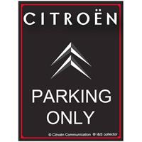 Fiftiesstore Citroën Parking Only Metalen Bord