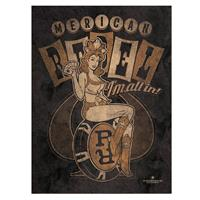 Fiftiesstore Metalen Poster - Pin Up Merican Rebel I'm All In!