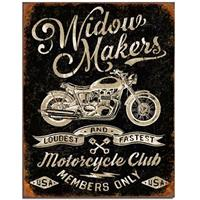 Fiftiesstore Metalen Poster Widow Makers Motorcycle Club